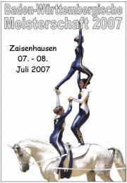 Baden-Württembergische Meisterschaft Zaisenhausen 2007